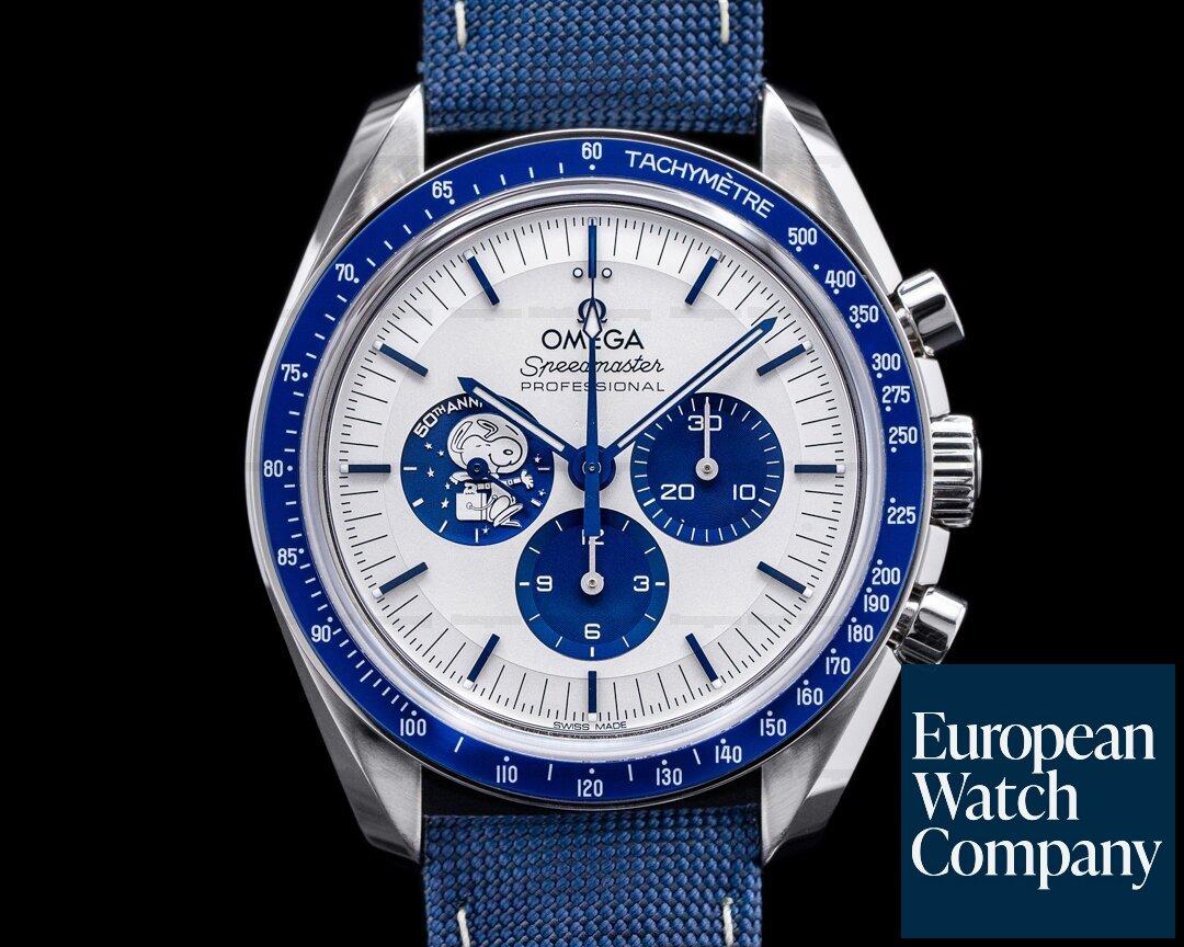 Omega 310.32.42.50.02.001 Speedmaster Silver Snoopy Award 50th Anniversary