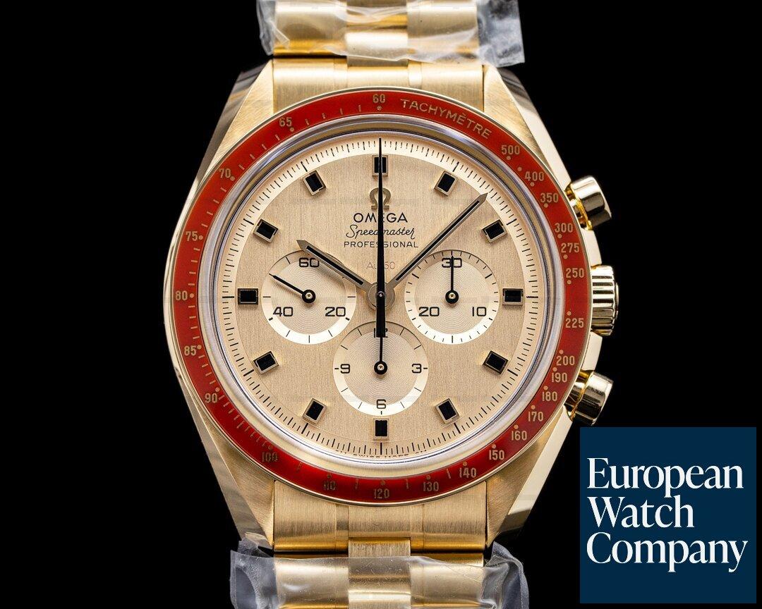 Omega 310.60.42.50.99.001 Apollo XI 50th Anniversary Speedmaster 18K Yellow Gold UNWORN