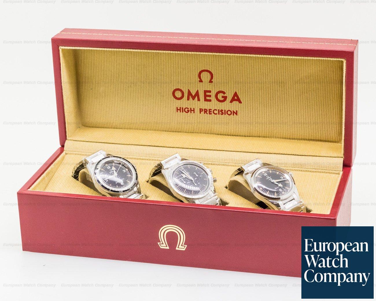 Omega 311.10.39.30.01.002 1957 Trilogy Set Limited Edition 3 Watch Set UNWORN