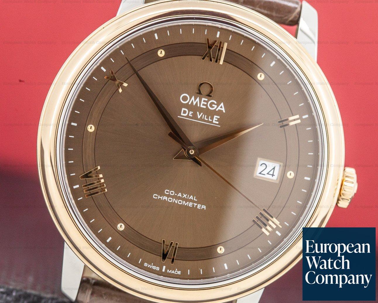 Omega 424.23.40.20 DeVille Prestige 18K Rose Gold/Steel