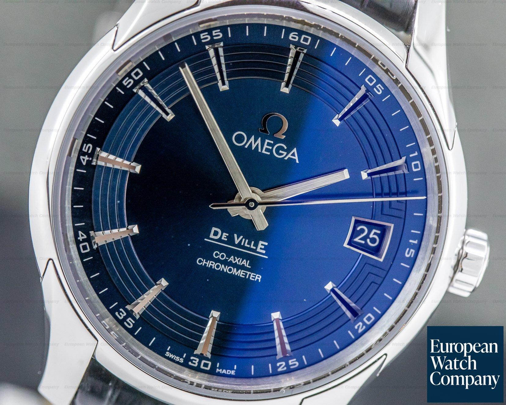 Omega 431.33.41.21.03.001 De Ville Co-Axial Hour Vision Blue Dial SS