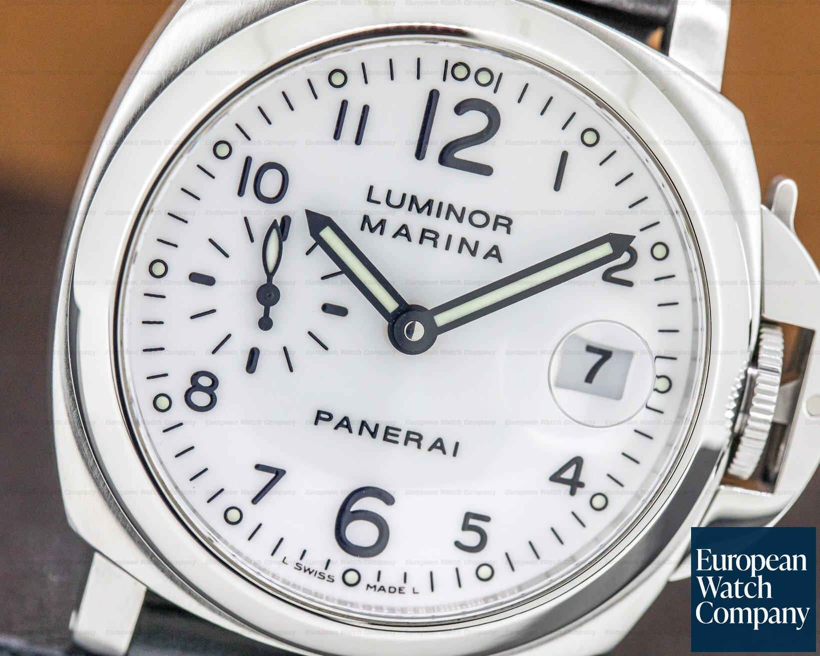 Panerai PAM00049 Luminor Marina SS White Dial 40MM