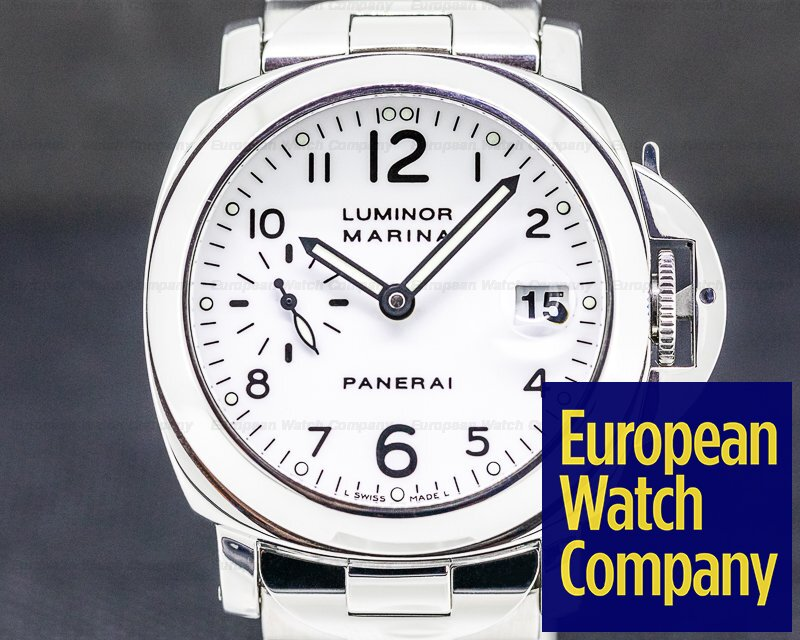 Panerai PAM00051 Luminor Marina 40MM White Dial SS / SS
