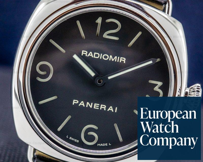 Panerai PAM00210 Radiomir Base SS Black Dial 45MM