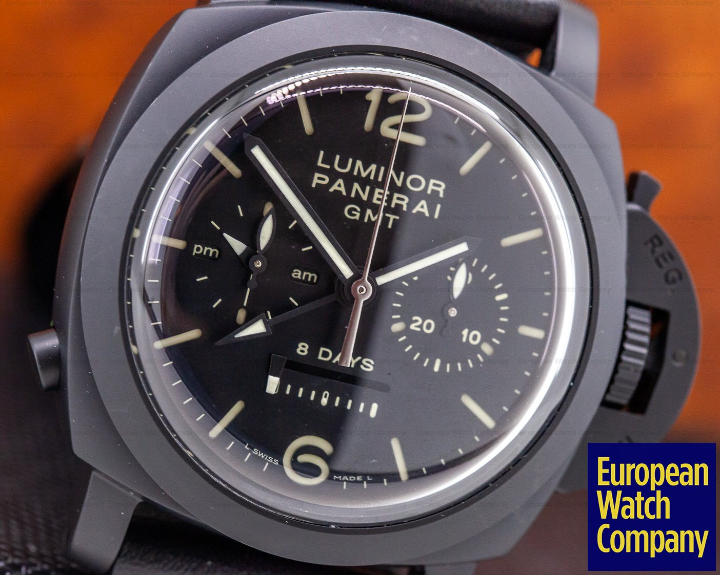 Panerai PAM00317 Luminor 1950 Chrono Monopulsante 8 Days GMT