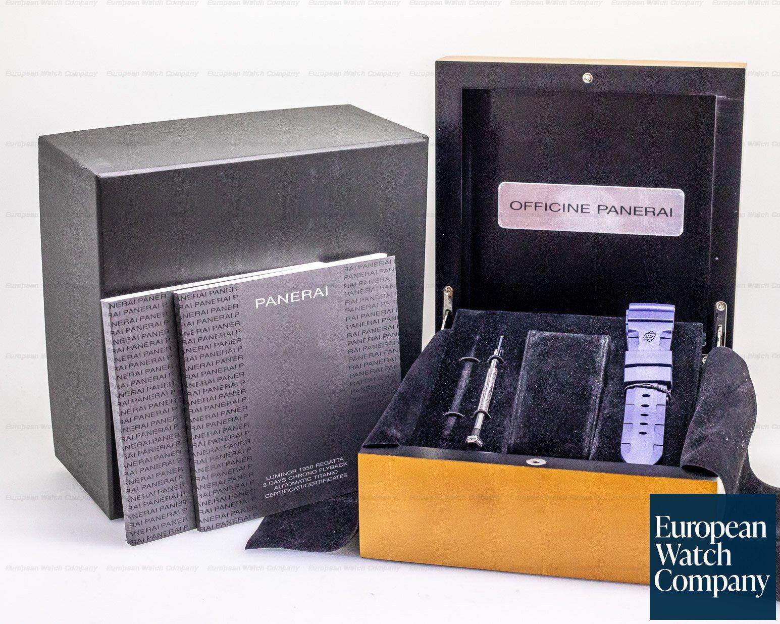Panerai PAM00526 Luminor Regatta Flyback Chronograph Titanium