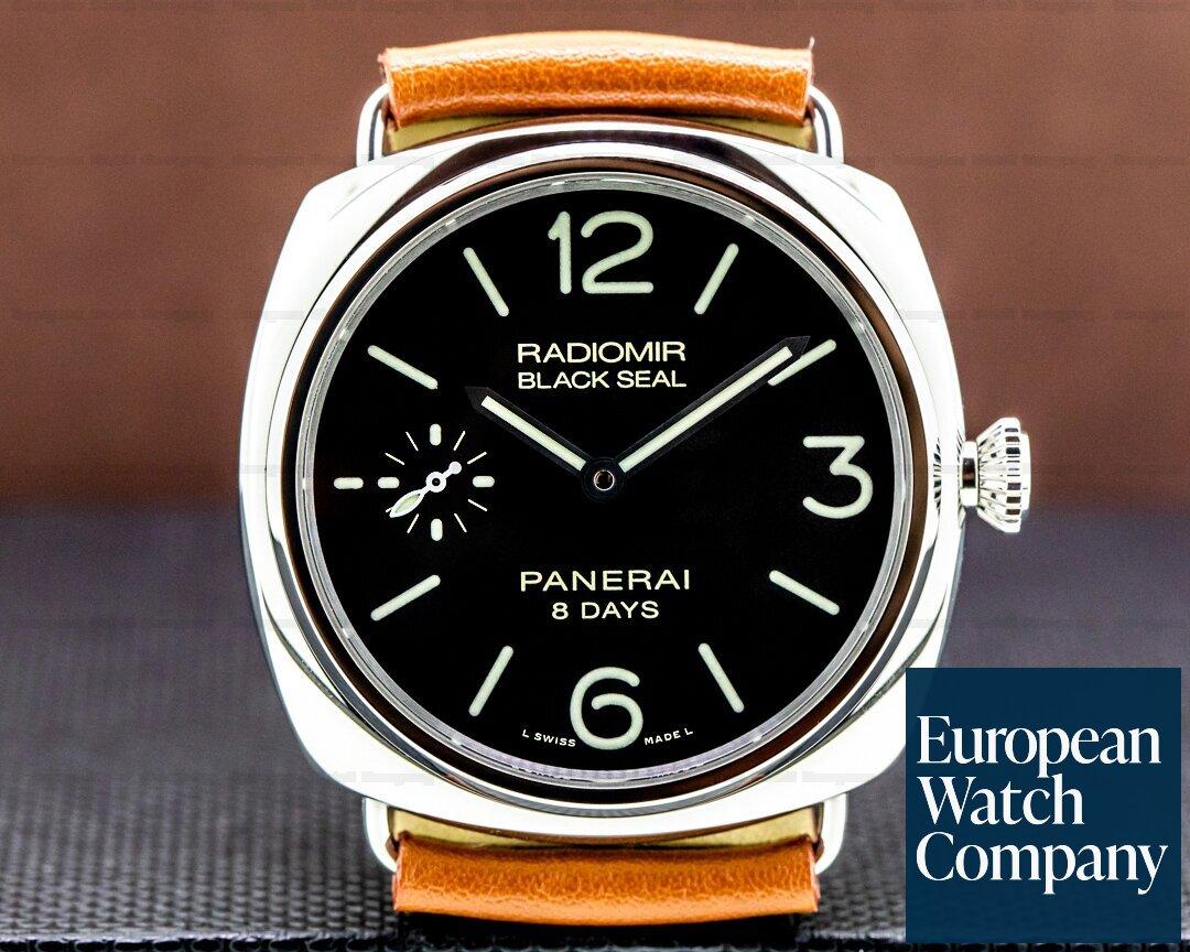 Panerai Radiomir Black Seal 8 Day Manual Wind Stainless Steel Ref. PAM00609