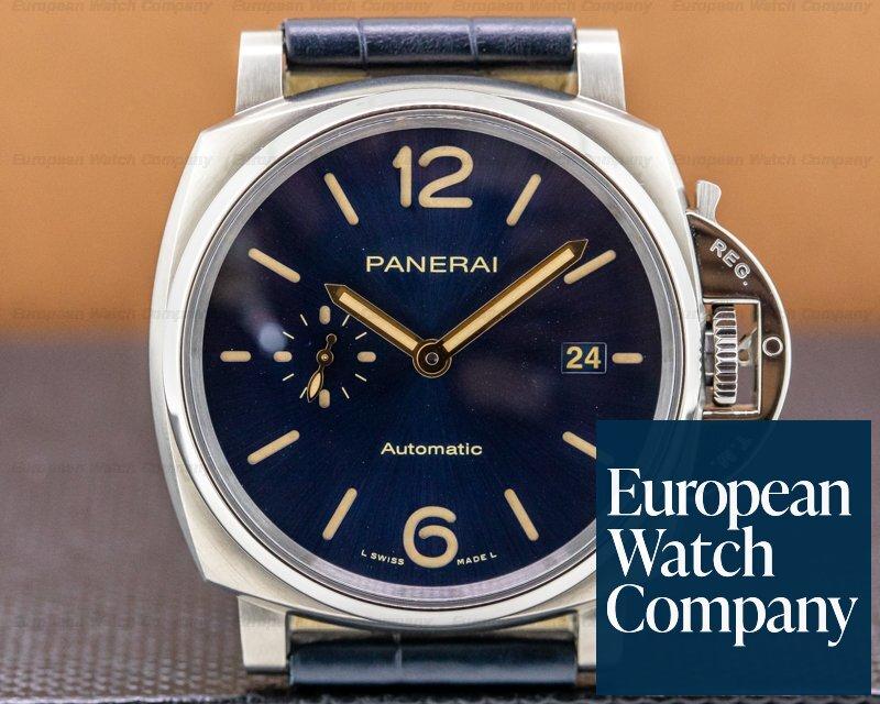 Panerai PAM00927 Luminor Due Automatic Titanio Blue Dial 42mm