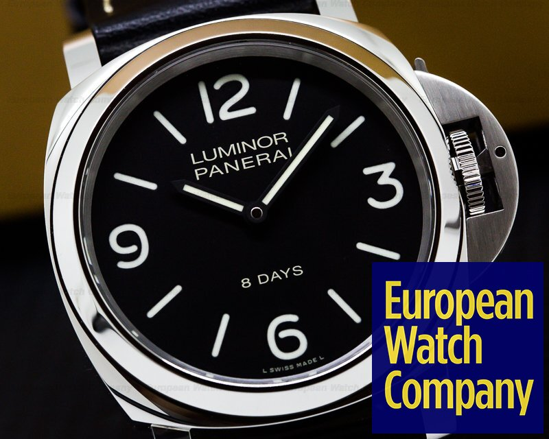 Panerai PAM560 Luminor Base 8 Days Black Painted Dial