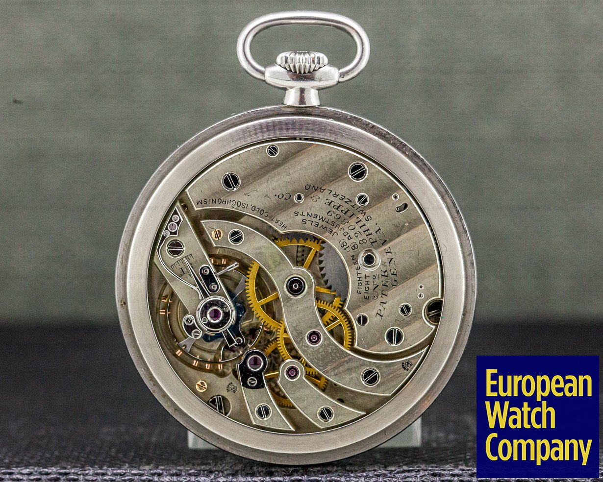 Patek Philippe Patek Philippe & Cie Vintage Pocket Watch Stainless Steel 46MM