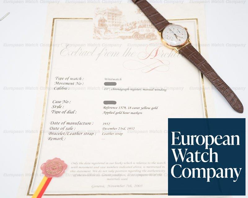 Patek Philippe 1579 1579 Vintage Chronograph 18K Yellow INCREDIBLE PATINA