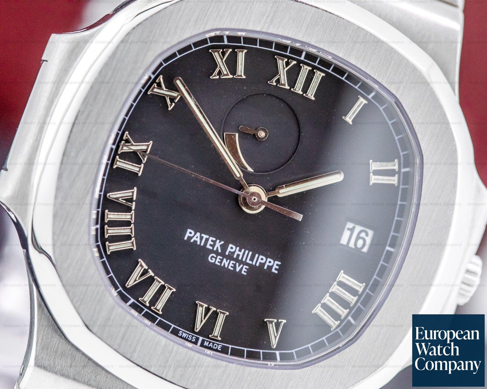 "Patek Philippe 3710/1A-001 Nautilus ""Comet"" SS / SS Black Dial FULL SET"
