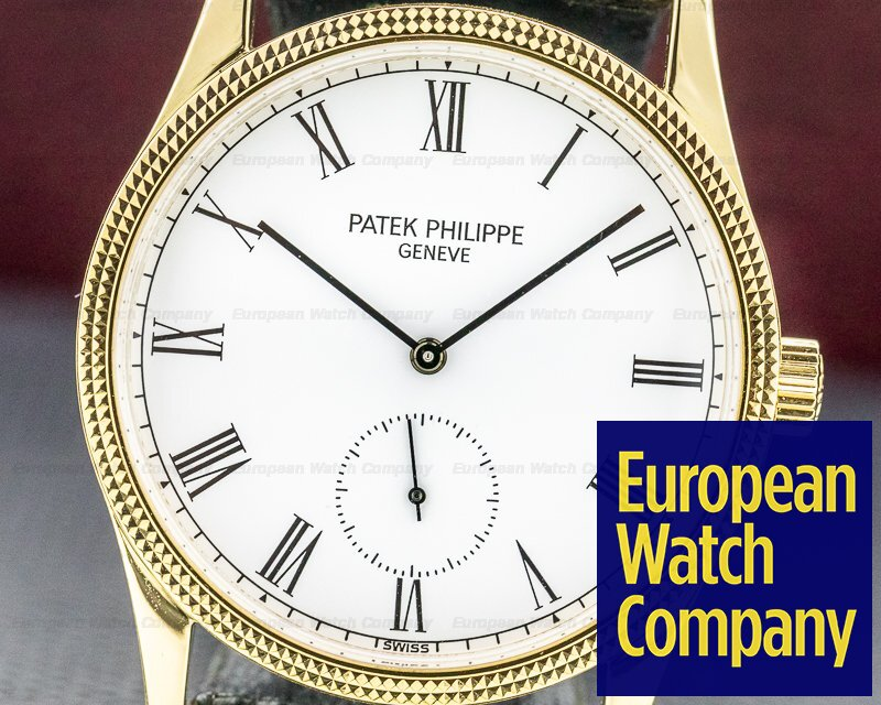 Patek Philippe 3796 D Calatrava Manual Wind 18K Yellow Gold Hobnail