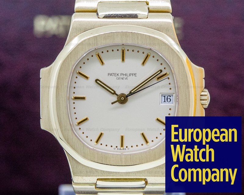 Patek Philippe 3800/001 Nautilus Mid Size 18K Yellow Gold FULL SET WOW