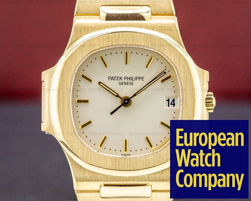 Patek Philippe 3800/1J-001 Nautilus Mid Size 18K Yellow Gold WOW