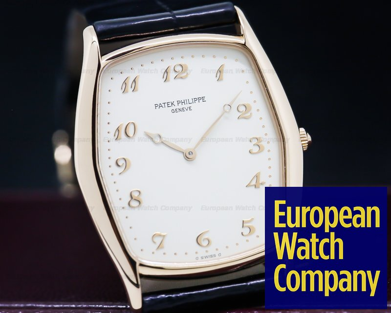 Patek Philippe 3842 Gondolo Ultra Thin 18K Rose Gold / Porcelain Dial