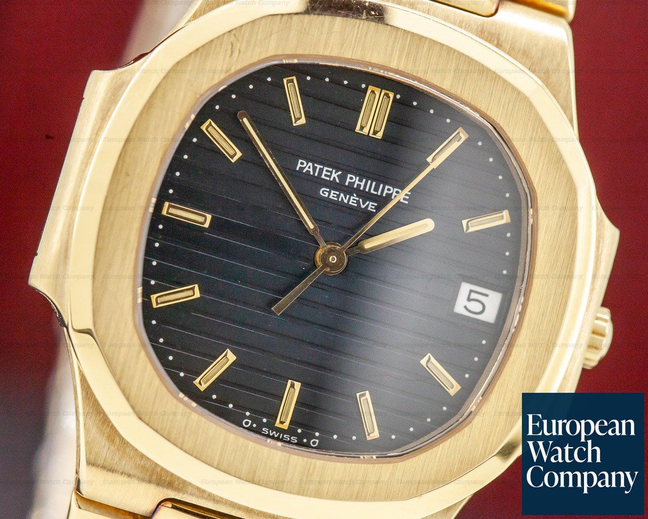 Patek Philippe 3900/001 Nautilus Mid Size 3900 Quartz Yellow Gold Blue Dial UNPOLISHED