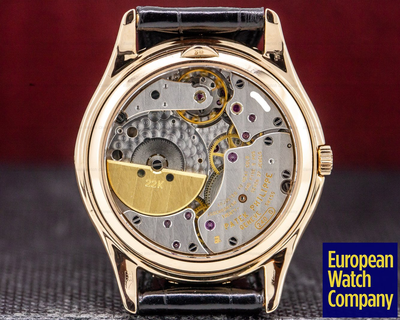 Patek Philippe 3941 R Perpetual Calendar 18K Rose Gold Display Back VERY RARE!