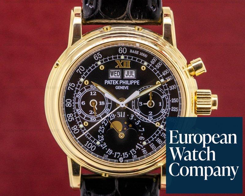 "Patek Philippe 5004/1J-001 Perpetual Split 5004 ""Michael Ovitz"" YG / Bracelet Black Dial UNIQUE"