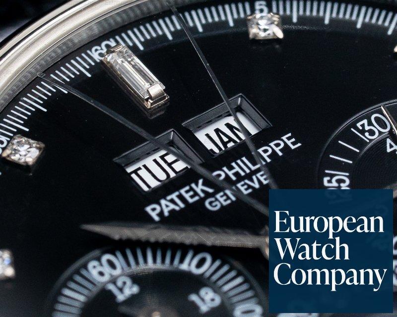 Patek Philippe 5004P-033 Perpetual Calendar Split 5004 Platinum / Black Diamond Dial