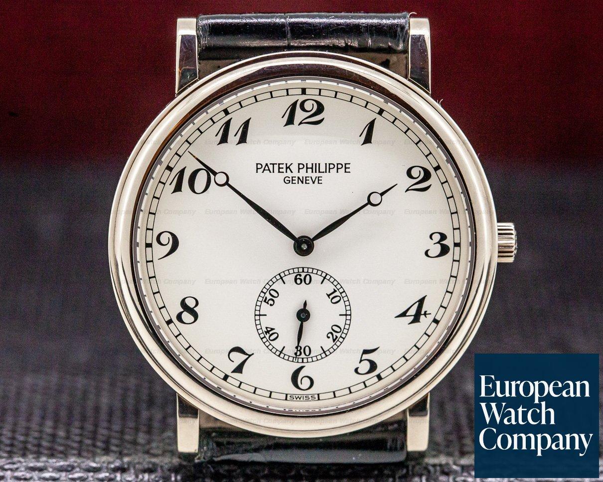 Patek Philippe 5022G-012 Calatrava 18K White Gold Arabic Numerals