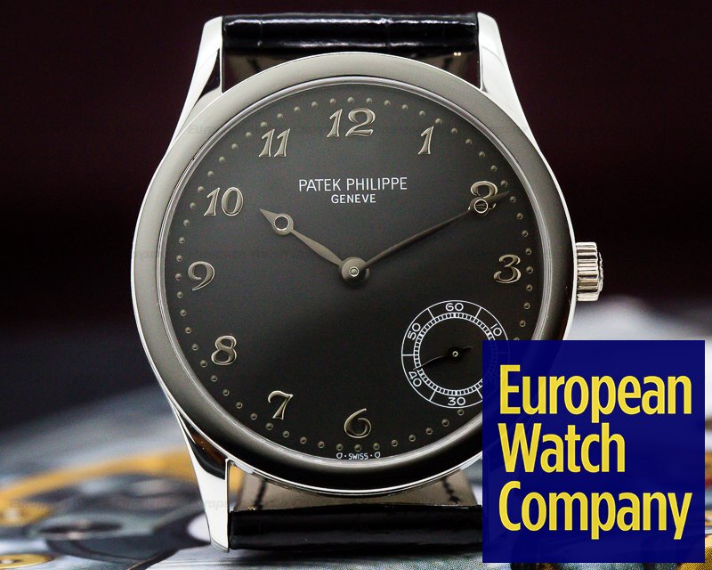 Patek Philippe 5026P Calatrava Automatic Grey Arabic Dial Platinum RARE