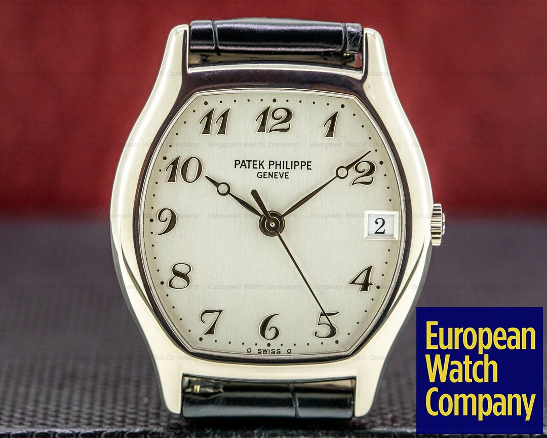 Patek Philippe Gondolo Tonneau 18K White Gold / Breguet Numerals Ref. 5030G-001