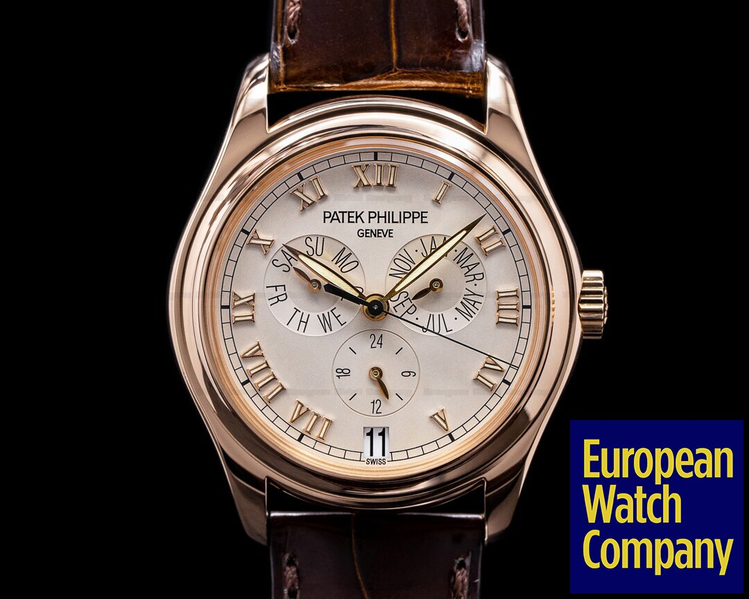Patek Philippe 5035R-001 Annual Calendar 5035R 18K Rose Gold Silver Dial