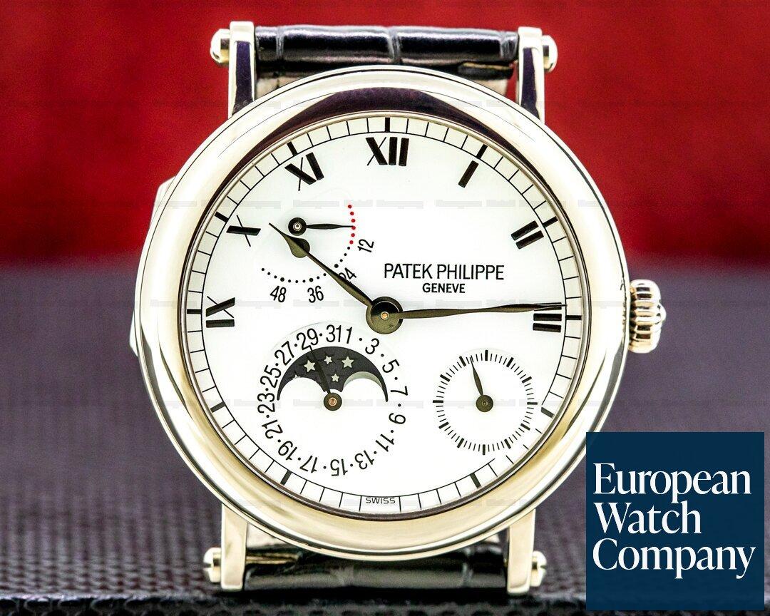 Patek Philippe Power Reserve 5054 Moonphase 18K White Gold Ref. 5054G-001