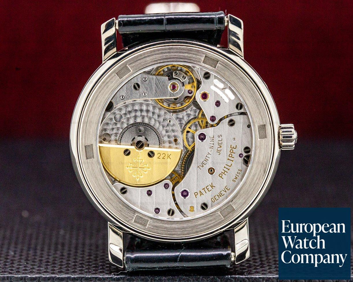 Patek Philippe 5055G Moon Phase Power Reserve Black Dial 18K White Gold