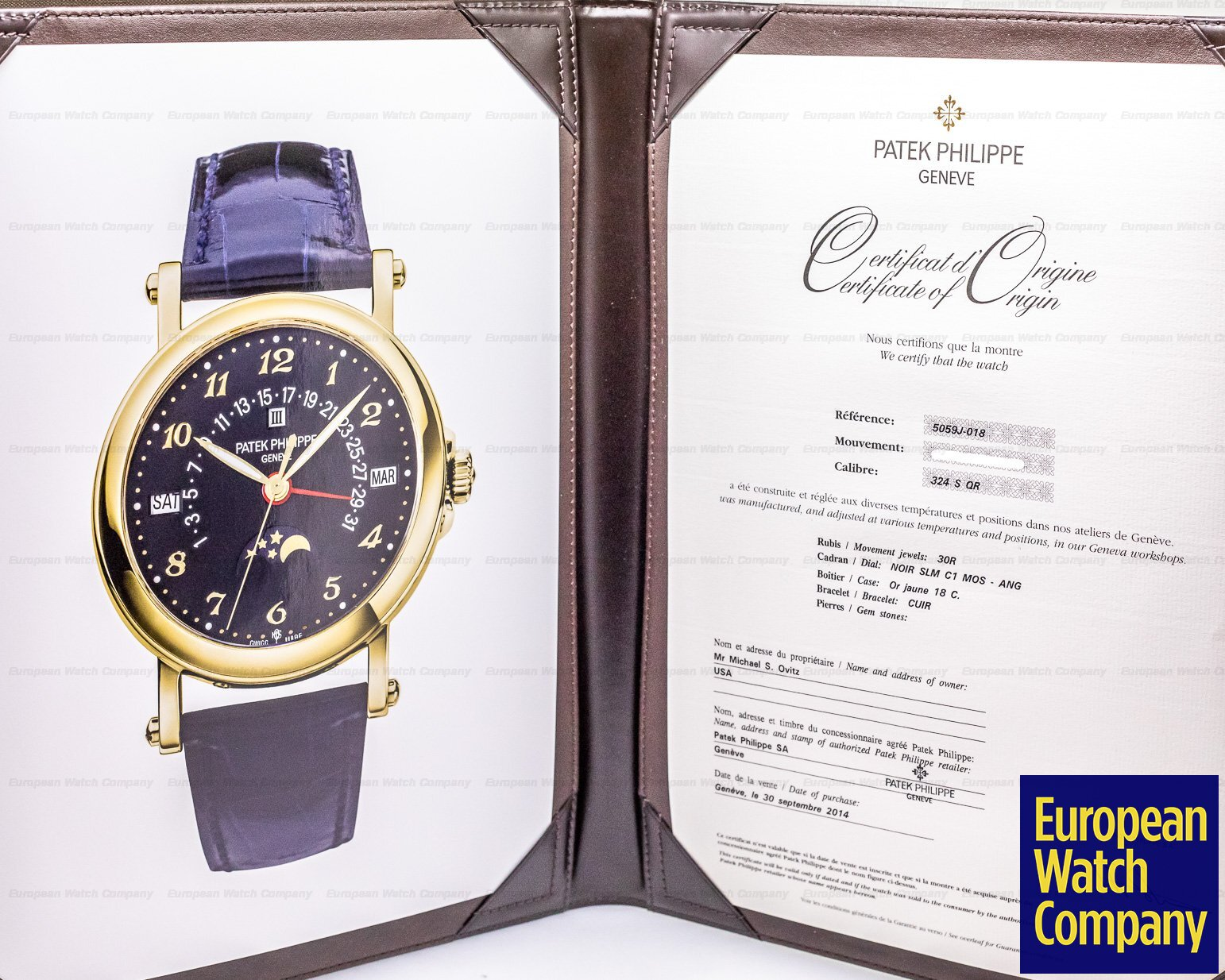 "Patek Philippe 5059J-018 Retrograde Perpetual Black Dial 18K ""Michael Ovitz"" UNIQUE PIECE"