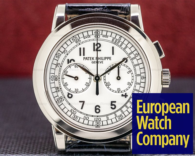 Patek Philippe 5070G 5070 White Gold Chronograph FULL SET CRISP