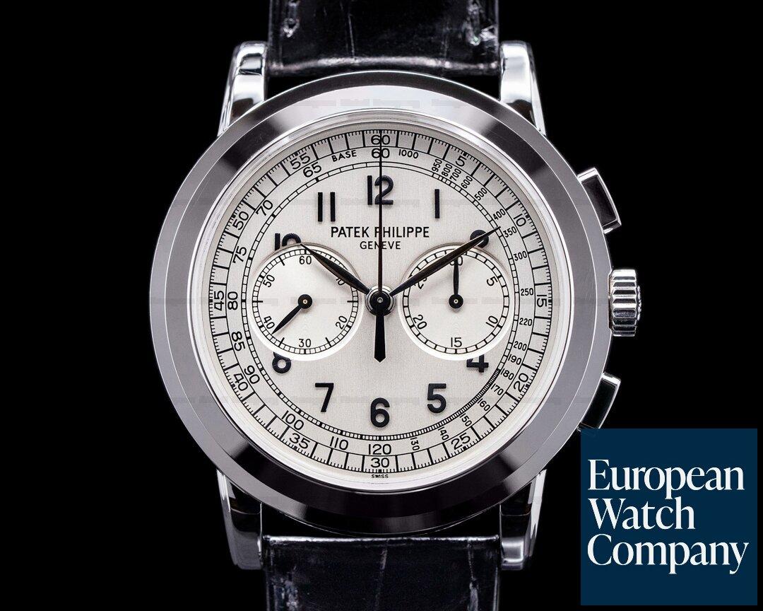 Patek Philippe 5070G White Gold Chronograph FULL SET SHARP Ref. 5070G