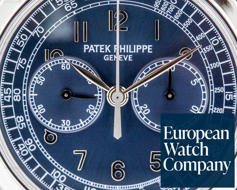 Patek Philippe 5070P 5070 Platinum Blue Dial Chronograph FULL SET UNPOLISHED