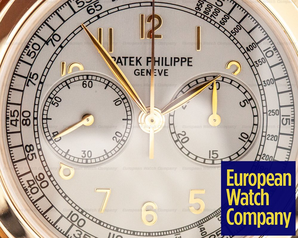 Patek Philippe 5070R 5070 Rose Gold Lemania Chronograph / Silver Dial
