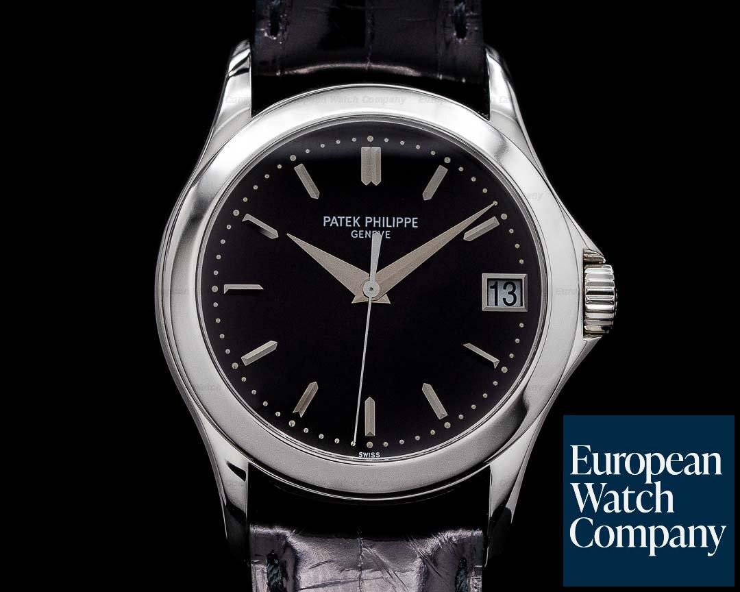 Patek Philippe 5107P-001 Calatrava 5107P Automatic Platinum Black Dial RARE