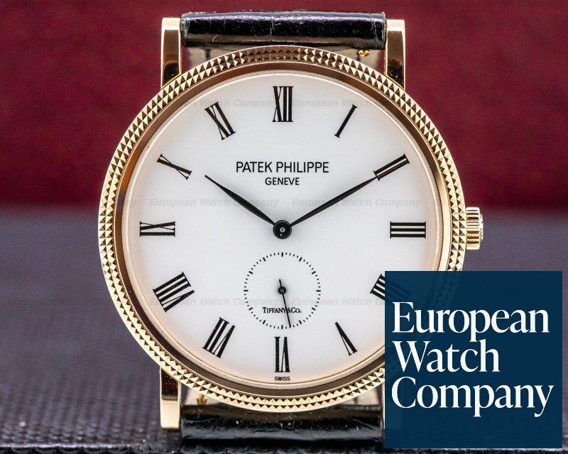 """Patek Philippe 5119R-001 Calatrava 5119R """"TIFFANY & CO"""" 18K Rose Gold"""