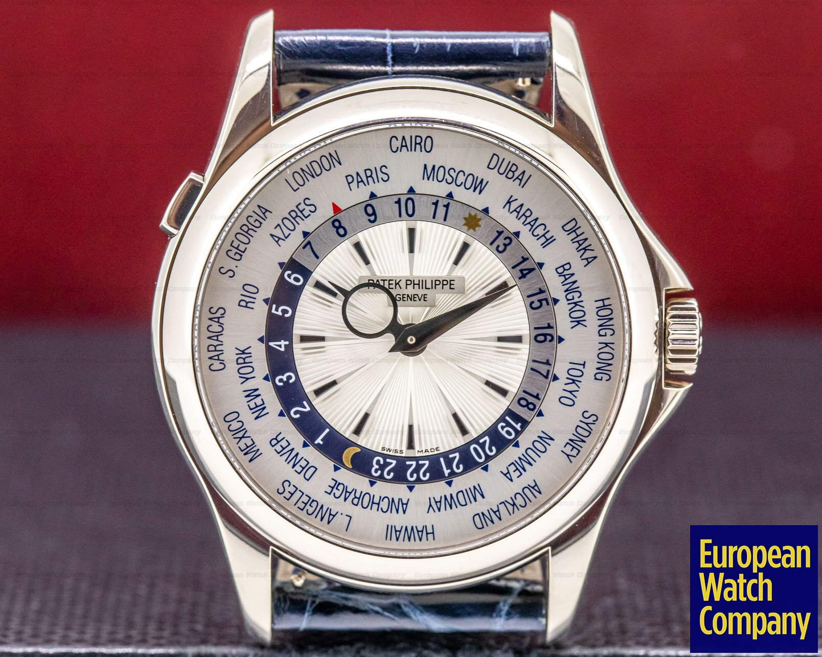 Patek Philippe 5130G-001 World Time 18K White Gold