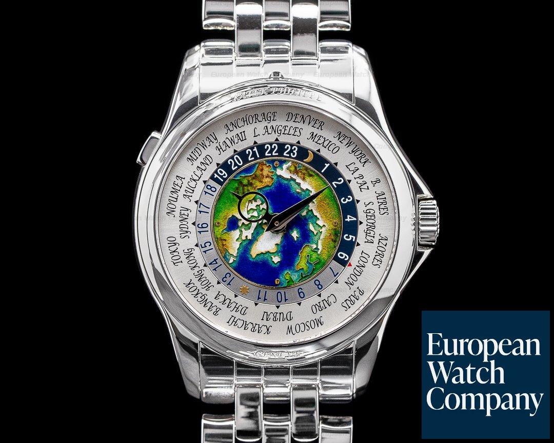 Patek Philippe World Time 5131P Enamel Dial Platinum DISCONTINUED 2019 Ref. 5131/1P-001