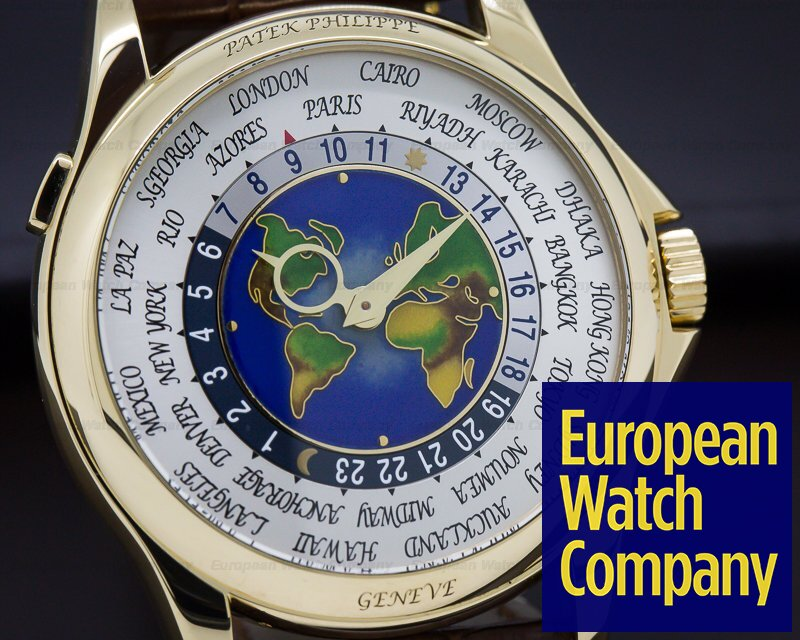 Patek Philippe 5131J-001 World Time Enamel Dial 18K Yellow Gold