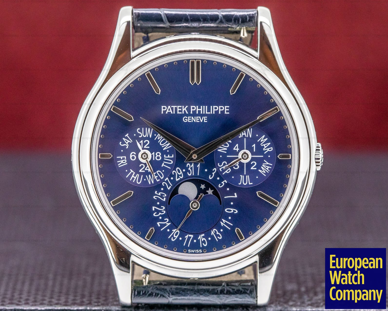 Patek Philippe 5140P-001 Perpetual Calendar 5140P Platinum Blue Dial