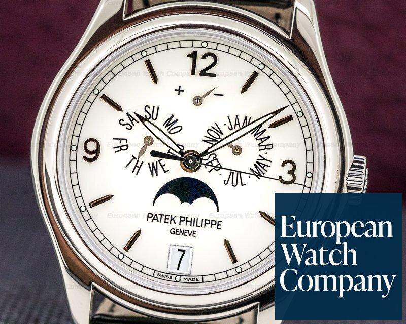 Patek Philippe 5146G-001 Annual Calendar 5146G 18K White Gold Porcelain Dial