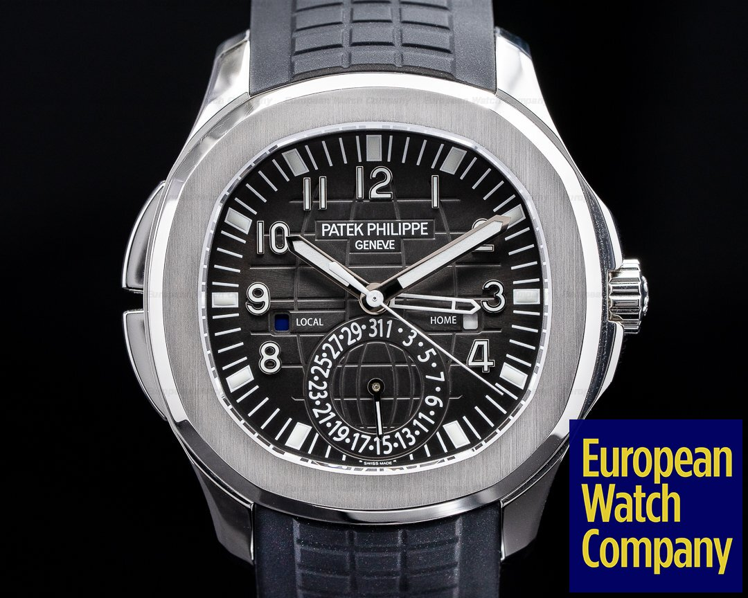 Patek Philippe 5164A-001 Aquanaut 5164A Travel Time SS / Rubber 2019