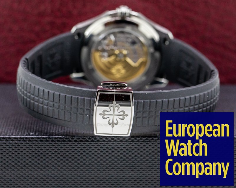 """Patek Philippe 5164A-001 Aquanaut Travel Time 5164A """"TIFFANY & CO"""" SS / Rubber"""