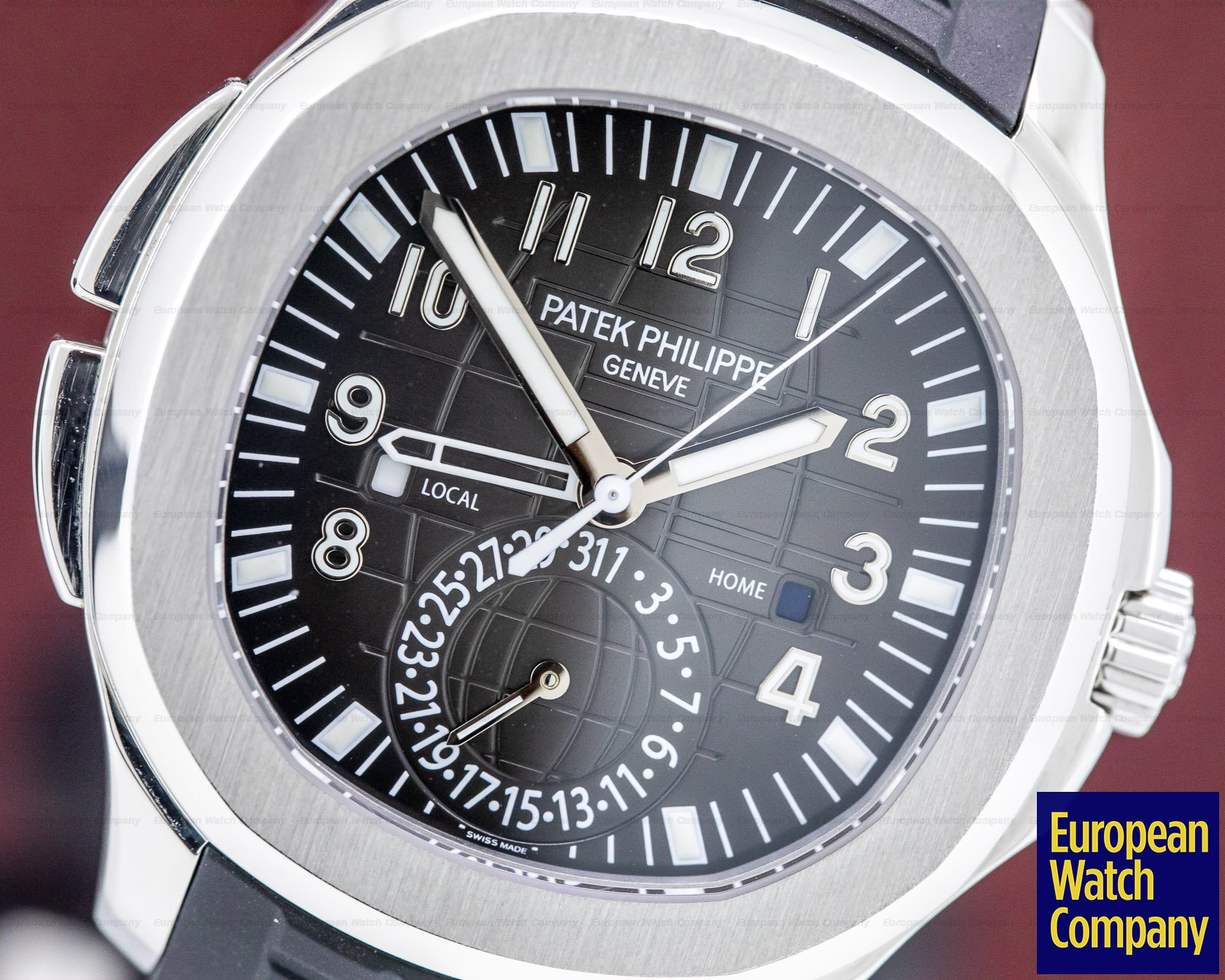 Patek Philippe 5164A-001 Aquanaut Travel Time SS / Rubber FULL SET