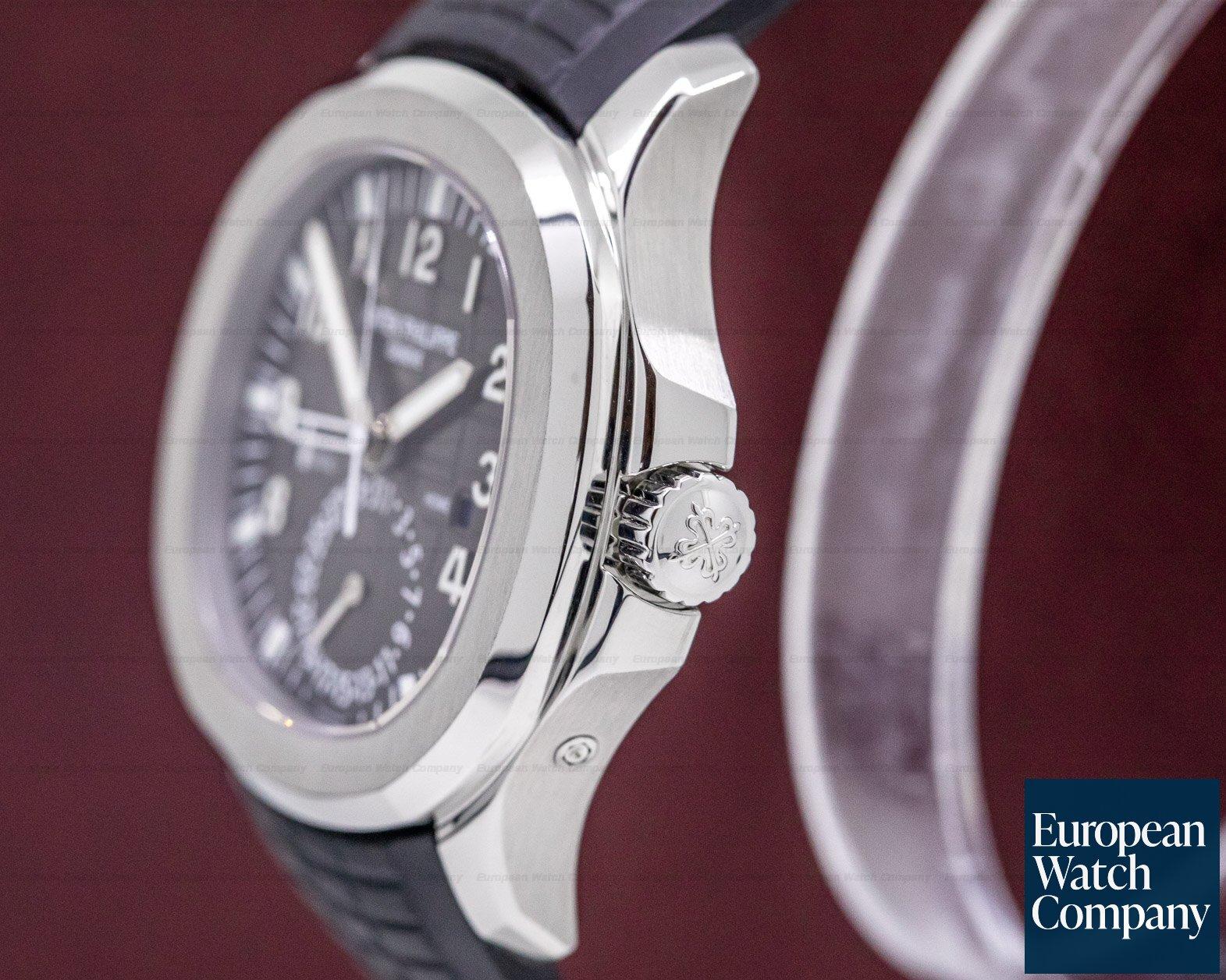Patek Philippe 5164A-001 Aquanaut Travel Time SS / Rubber FULL SET