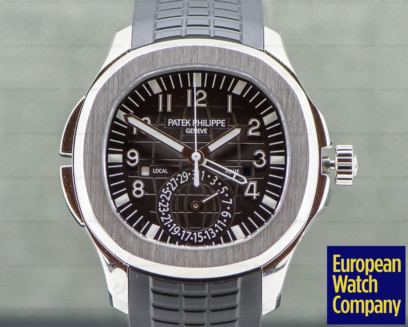 Patek Philippe 5164A-001 Aquanaut Travel Time SS / Rubber UNWORN