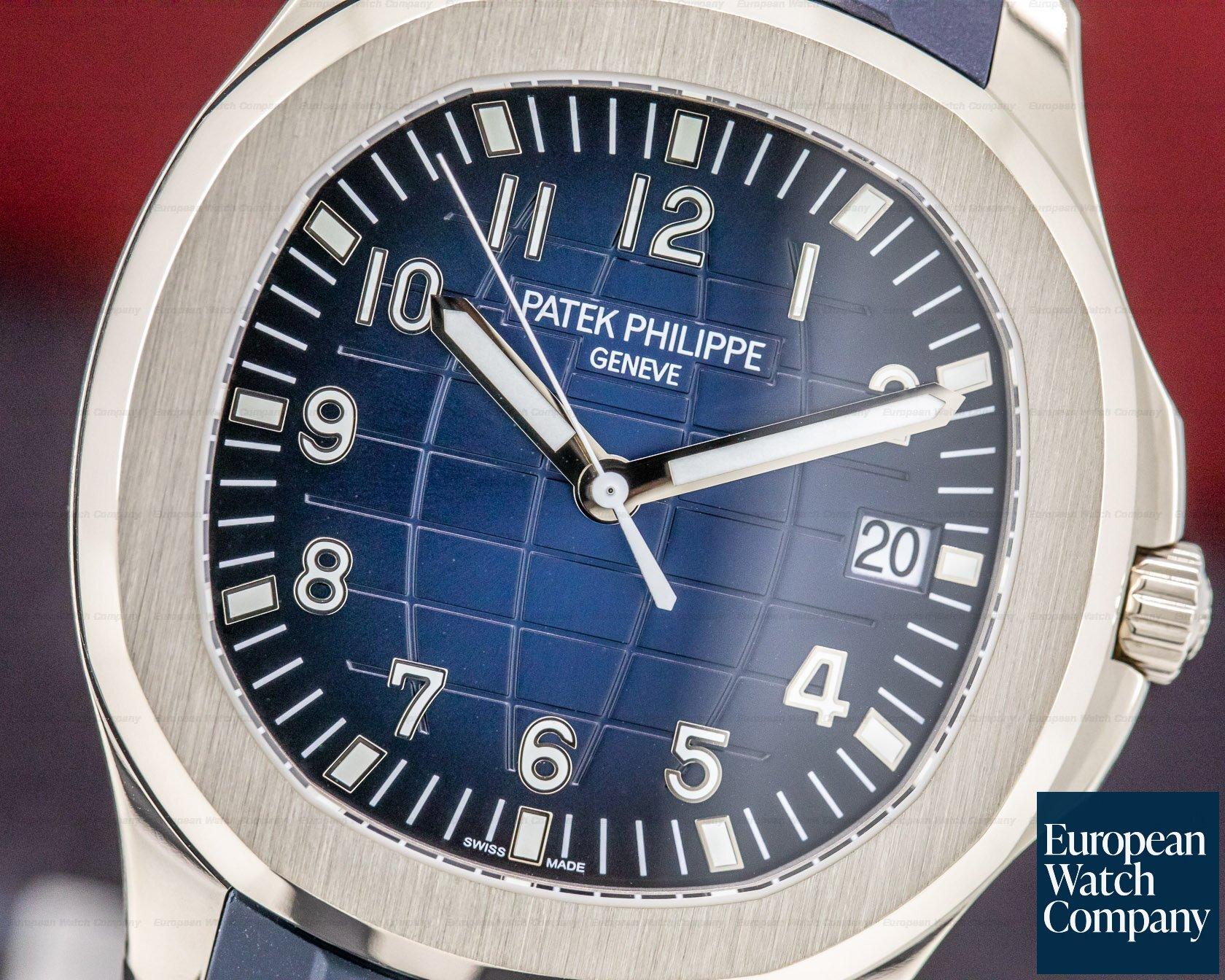 Patek Philippe 5168G-001 Aquanaut 18K White Gold / Blue Dial