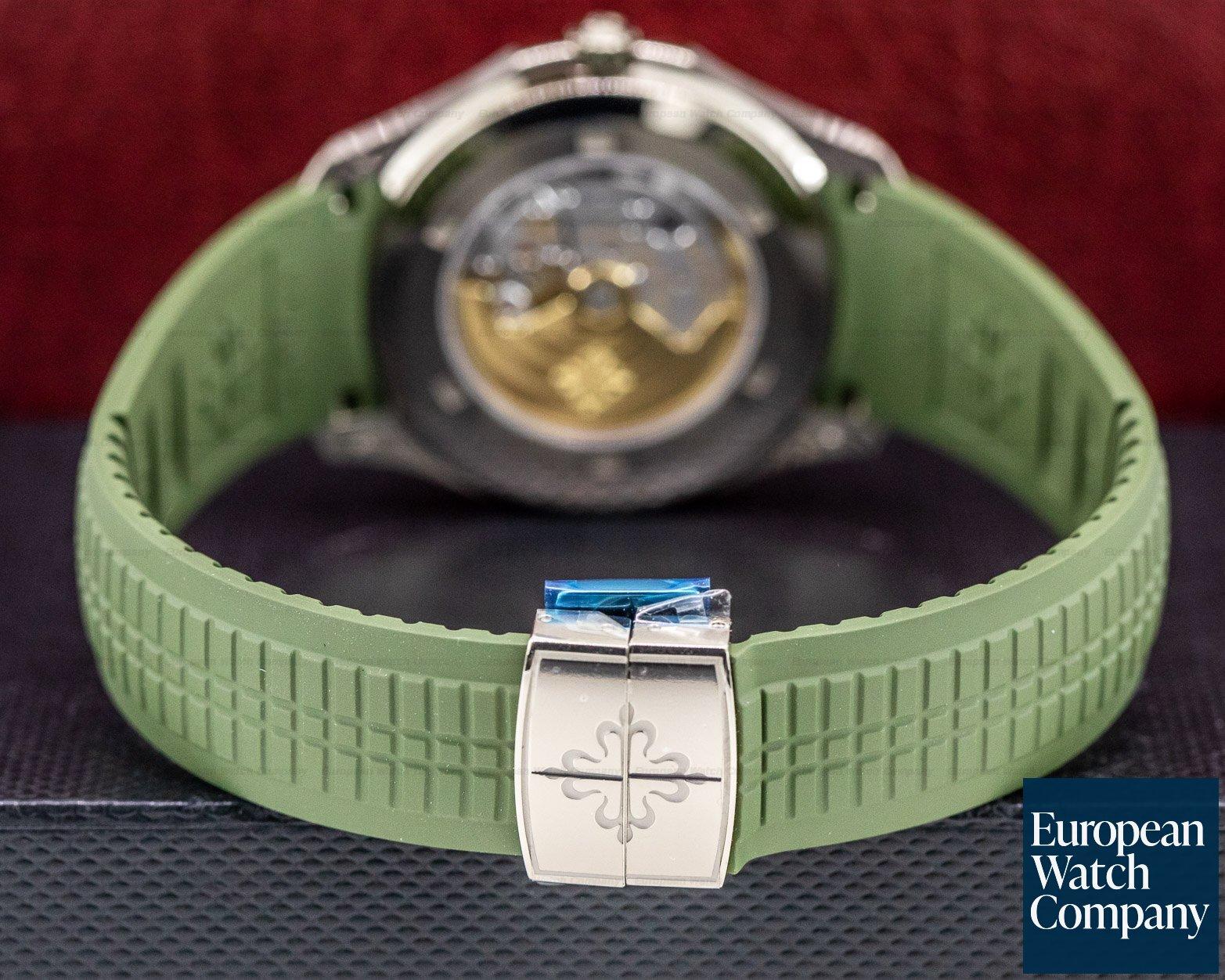 Patek Philippe 5168G-010 Aquanaut 18K White Gold / Khaki Green Dial UNWORN