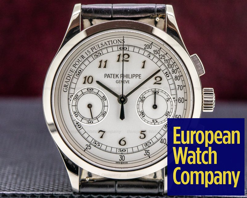 Patek Philippe 5170G-001 Chronograph 5170G 18K White Gold / Silver Pulsation